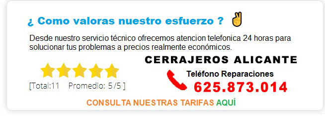 cerrajeros Alicante precios